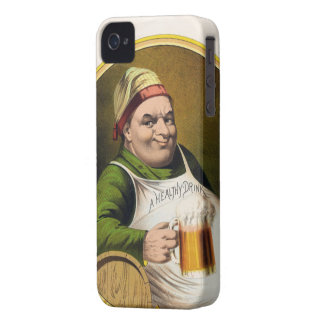 Vintage Lager Beer Advertisement Case-Mate iPhone 4 Cases