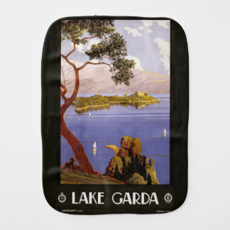 Vintage Lake Garda Italy burp cloth