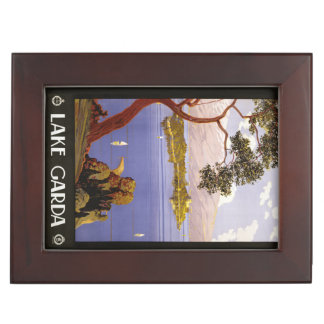 Vintage Lake Garda Italy custom keepsake box