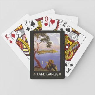 Vintage Lake Garda Italy playing cards