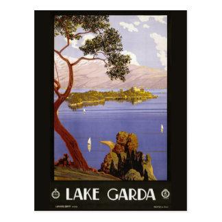 Vintage lake Garda Italy postcard