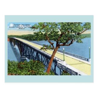 Vintage Lake of the Ozarks, Hurricane Deck Bridge Postcard