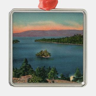 Vintage Lake Tahoe Emerald Bay Christmas Ornament