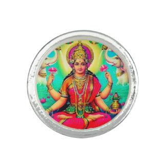 Vintage Lakshmi Hindu Goddess Pink Ring