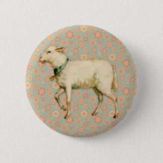 Vintage Lamb Art 6 Cm Round Badge