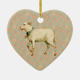 Vintage Lamb Art Christmas Ornament