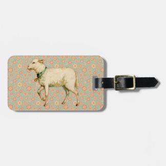 Vintage Lamb Art Luggage Tag