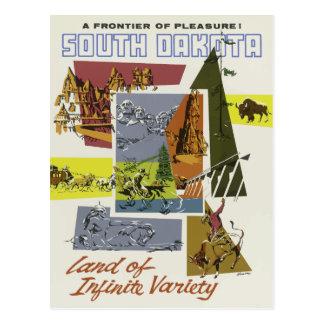 Vintage Land of Infinite Variety South Dakota Postcard