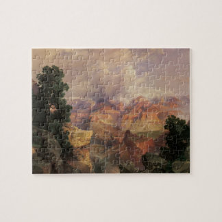 Vintage Landscape, Grand Canyon by Thomas Moran Puzzle