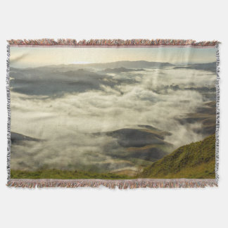 Vintage Landscape Nature Mountains Throw Blanket