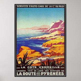 Vintage Languedoc-Rousillon, France - Poster