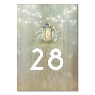 Vintage Lantern Rustic Floral Barn Wedding Card