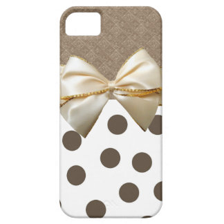 Vintage Large Brown Polka Dots iPhone 5 Cases