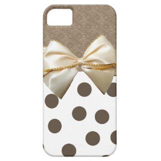 Vintage Large Brown Polka Dots iPhone 5 Cases