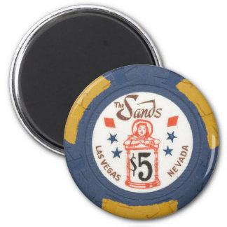 Vintage Las Vegas Casino Poker Chip Gambling Party 6 Cm Round Magnet