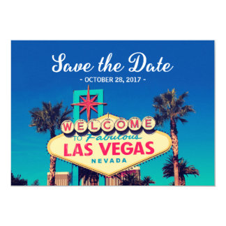 Vintage Las Vegas Photo - Save the Date Wedding 13 Cm X 18 Cm Invitation Card