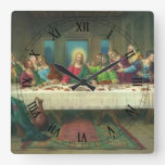 Vintage Last Supper with Jesus Christ and Apostles Clocks