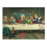 Vintage Last Supper with Jesus Christ and Apostles Post Cards