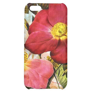 Vintage Late Summer Roses Collage Art iPhone 4 Cas Cover For iPhone 5C