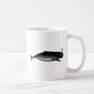 Vintage Laughing Whale Basic White Mug