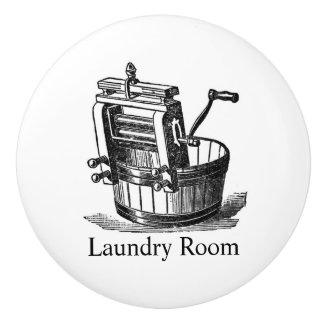 Vintage Laundry Room clothes wringer Ceramic Knob
