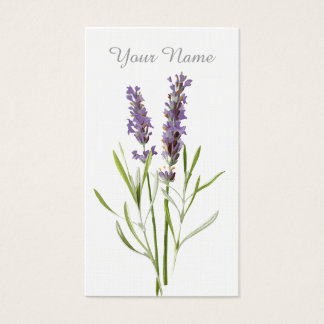 Vintage lavender business card