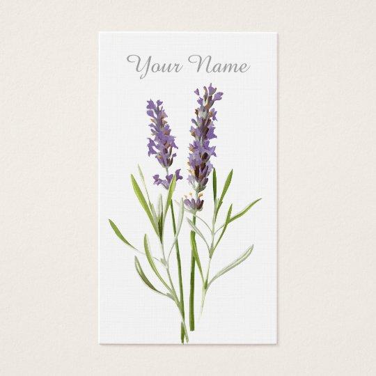 Vintage lavender business card