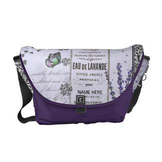 Vintage Lavender Collage bag Messenger Bag