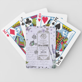 Vintage Lavender Collage Bicycle Playing Cards