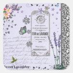 Vintage Lavender Collage Square Sticker