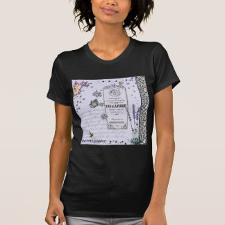 Vintage Lavender Collage Tee Shirts