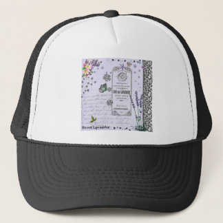 Vintage Lavender Collage Trucker Hat