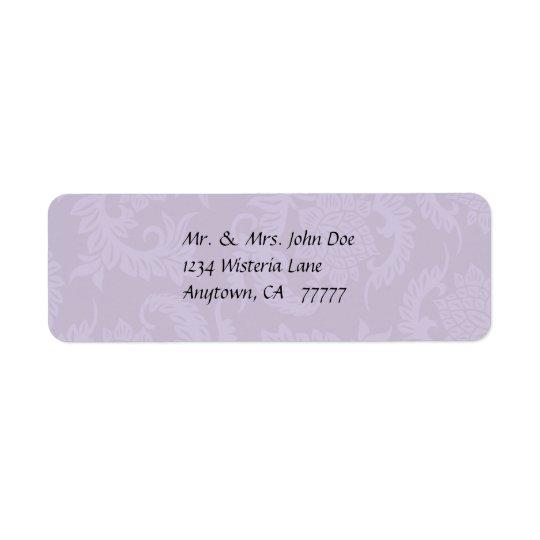 Vintage Lavender Damask Address Label