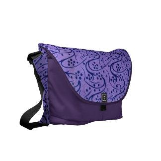 Vintage Lavender Floral Messenger Bag