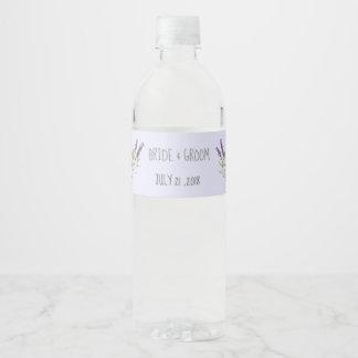 Vintage Lavender for weddings Water Bottle Label