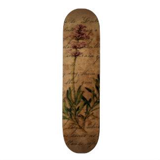 Vintage Lavender on Distressed Writing Paper Skateboard Decks