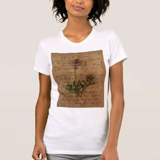 Vintage Lavender on Distressed Writing Paper T-shirts