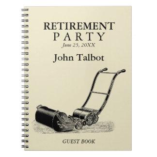 VINTAGE Lawn Mower Retirement Party Guest Book