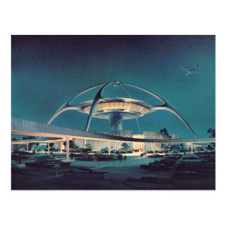 Vintage LAX Los Angeles Airport Postcard