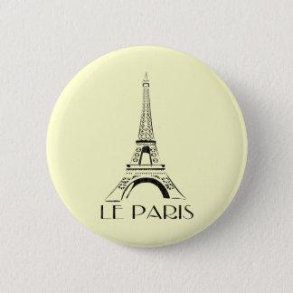 vintage le paris 6 cm round badge