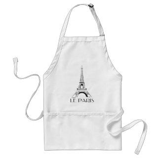 vintage le paris eiffel tower standard apron