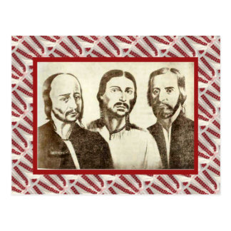 Vintage, Leaders of the 1774 Revolution Postcard