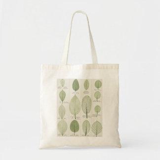 Vintage Leaf Illustrations Tote Bag