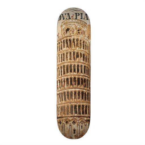 Vintage Leaning Tower of Pisa Skate Board Decks