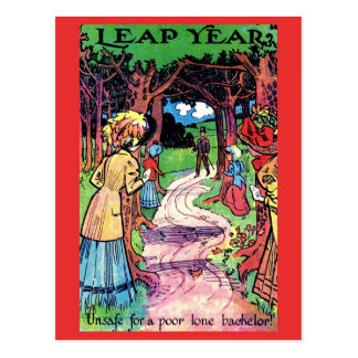 Vintage Leap Year Postcard Fun Early 1900's Image