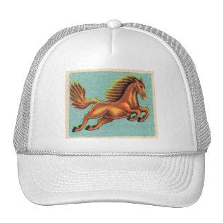 Vintage Leaping Horse Illustration Cap