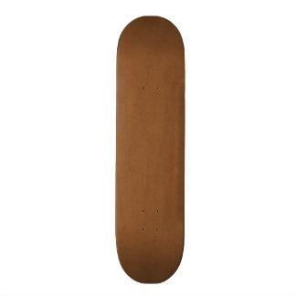 Vintage Leather Brown Antique Paper Template Blank 20.6 Cm Skateboard Deck