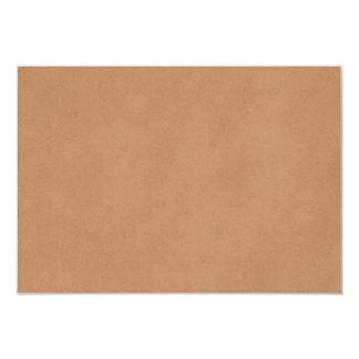 Vintage Leather Brown Antique Paper Template Blank 9 Cm X 13 Cm Invitation Card