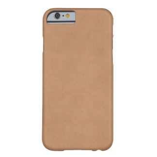 Vintage Leather Brown Antique Paper Template Blank Barely There iPhone 6 Case