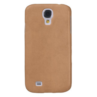 Vintage Leather Brown Antique Paper Template Blank Galaxy S4 Case